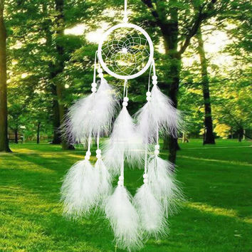 Hand Made Feather Dream Catcher