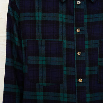 BDG Black Watch Flannel Shirt in Green - Urban Outfitters
