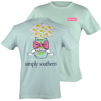 Simply Southern Nana Means Love In The South Girlie Bright T Shirt