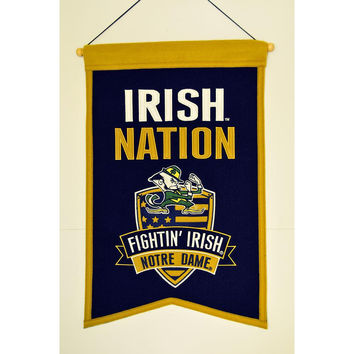 Notre Dame Fighting Irish NCAA Nations Banner (15x20)