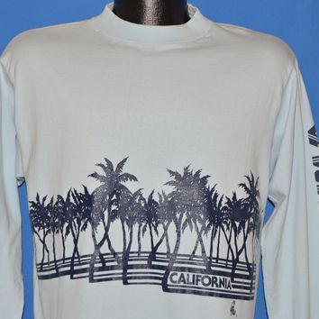 80s California Long Sleeve Palm Tree t-shirt Large