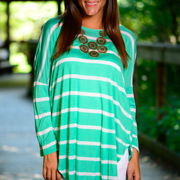 Simply Stripes Top, Green