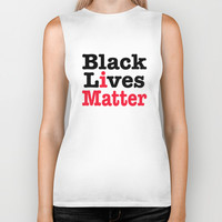 BLACK LIVES MATTER Biker Tank by RQ Designs (Retro Quotes)