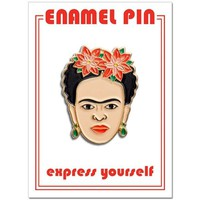 THE FOUND PIN - FRIDA RED FLORALS