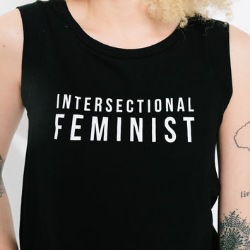 Intersectional Feminist Black Tank