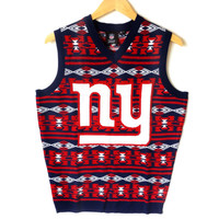 NFL Licensed New York Giants Tacky Ugly Christmas Sweater Vest