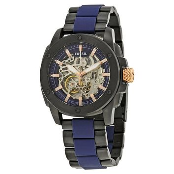 Fossil Modern Machine Skeleton Dial Automatic Mens Watch ME3133
