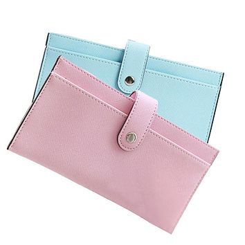 PU Leather Women Wallet Fashion Candy Color Change Purse Multifunctional Long Wallets Money Purse Brief Phone Bag Lady Clutch