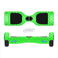 The Subtle Green Paw Prints Full-Body Skin Set for the Smart Drifting SuperCharged iiRov HoverBoard