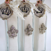 Abbey James Bubble Salts Keepsake Gift Bottle, bath salts, bubble bath, glass bottle