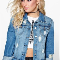 Alice Slim Fit Western Denim Jacket