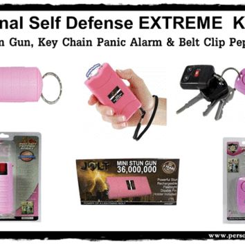 Personal Self Defense EXTREME Safety Kit-Pink