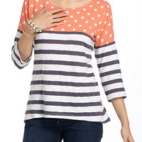 Split Stripes Pullover