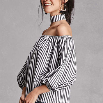 Striped Choker Top