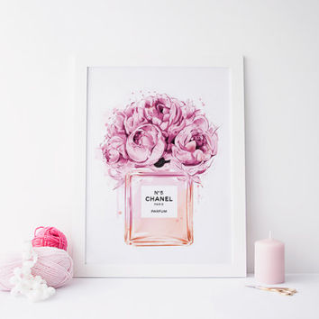 Printable art COCO CHANEL perfum bottle, coco chanel no.5 perfum, coco chanel print, coco chanel art, chanel art, instant download