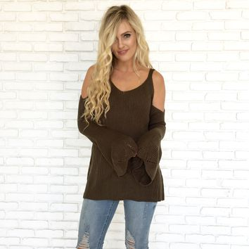 Anywhere With You Sweater in Olive