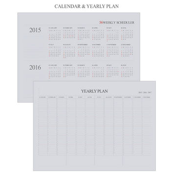 2015 Indigo The basic wirebound 56 weekly scheduler planner
