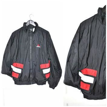 vintage ADIDAS windbreakers early 90s HIP HOP club wear unisex athletic jacket os