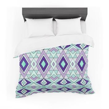"Pom Graphic Design ""Gems"" Purple Teal Featherweight Duvet Cover"