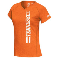 adidas Tennessee Volunteers Women's Orange Football Sideline Her Sideline Vertical ClimaLITE T-Shirt