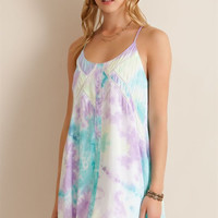 Pastel Watercolor Dress - Lemon Combo