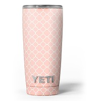 The Mint Pink Morocan Pattern Yeti Rambler Skin Kit