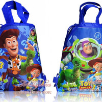 2pcs Toy Story Hot Cartoon Drawstring Backpack Bags 34*27CM Non-Woven Fabric Multipurpose Bags Kids Party Gifts,School Furniture