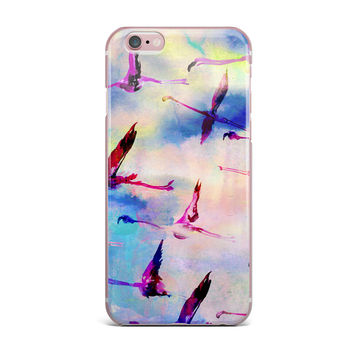 "Nikki Strange ""Flamingo in Flight"" iPhone Case"