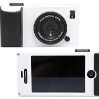 HK Retro Stereo Camera Icam Shape Protector Protective Hard Case Cover for iPhone 4 4S 4G,White