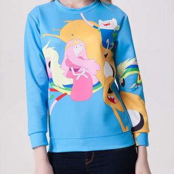 Long Sleeve Cartoons 3D Pattern Hoodies = 4817792388