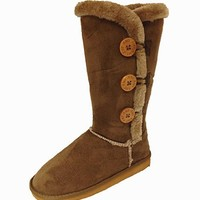 Top Moda Women's Tall Classic Faux Sheepskin Boot