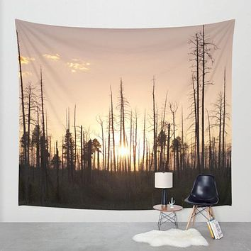 Arizona Forest at Sunset Wall Tapestry