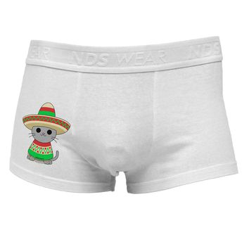 Cat with Sombrero and Poncho Side Printed Mens Trunk Underwear by TooLoud