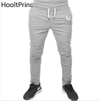 Men Joggers Fall 2017 New Han Edition Embroidery Mens Sweatpants Leisure Cultivate One's Morality Pants Men's Trousers