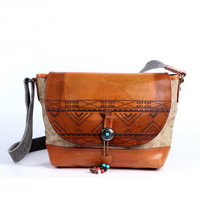 Personality Indian pattern crossbody bags shoudler bag for women