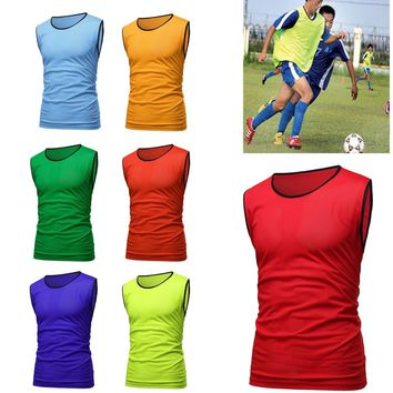 Sports Soccer Football Basketball Team Sports Breathe Training Bibs Vests Scrimmage Vests Mesh Adult Youth Pinnies Jerseys