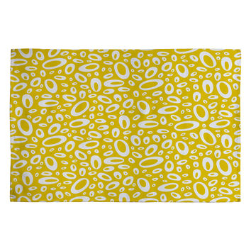 Heather Dutton Molecular Yellow Woven Rug