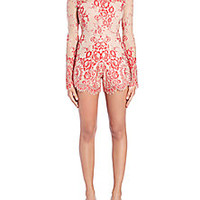 Alexis - Li Lace Short Jumpsuit - Saks Fifth Avenue Mobile