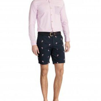 Embroidered chino shorts - FLAMGO - Ted Baker