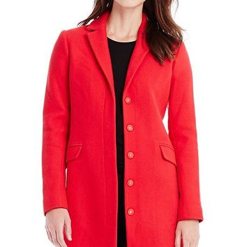 Side Zip Wool Coat - Outerwear & Jackets - Womens - Armani Exchange