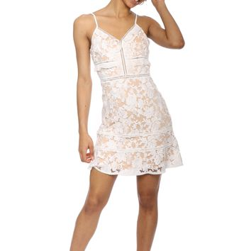 Willow & Clay Embellished Lace Dress
