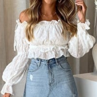 Women's Spring and Summer New Sexy Halter Short Top Slim Women's Holiday Wind Lantern Sleeve Shirt Hot Sale