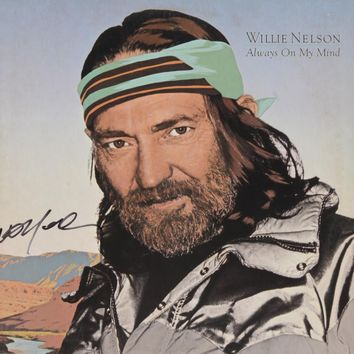 """Willie Nelson Signed Autographed """"Always on My Mind"""" Record Album (PSA/DNA COA)"""