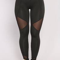 Mesh It Up Active Leggings - Black