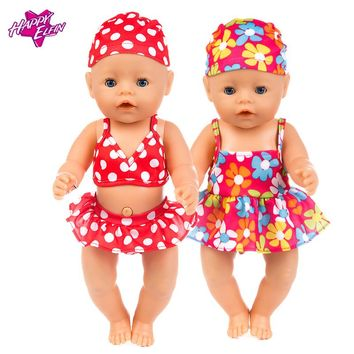 Baby Reborn Clothes 43cm Baby Born Zapf Doll Clothes American Girl Clothes Summer for dolls doll accessories doll swimwear