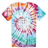 A$AP Worldwide Tie Dye T-Shirt - Mens Tee - Multi -