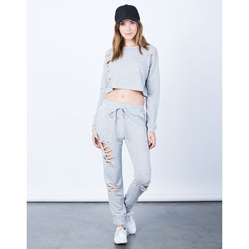 Destroyed Cropped Sweater