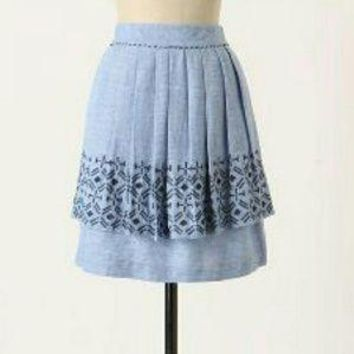 Anthropologie Alpine Dream Chambray Skirt -SALE!!