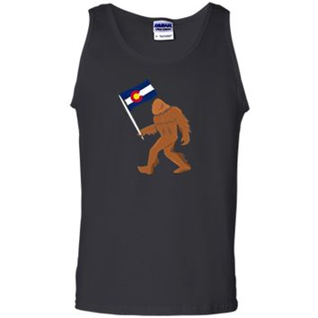 Bigfoot Fourteeners Colorado Apparel Colorado Flag T shirt Tank Top