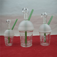Starbucks Cup Water pipe Glass Bongs Mini Bubbler Shisha Pipe Hookah Weed pipes For Smoking Glass Oil Rigs